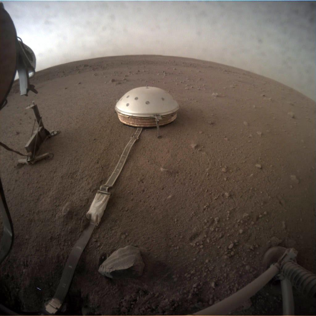 Nasa's Mars lander InSight acquired this image using its Instrument Context Camera on Sol 145