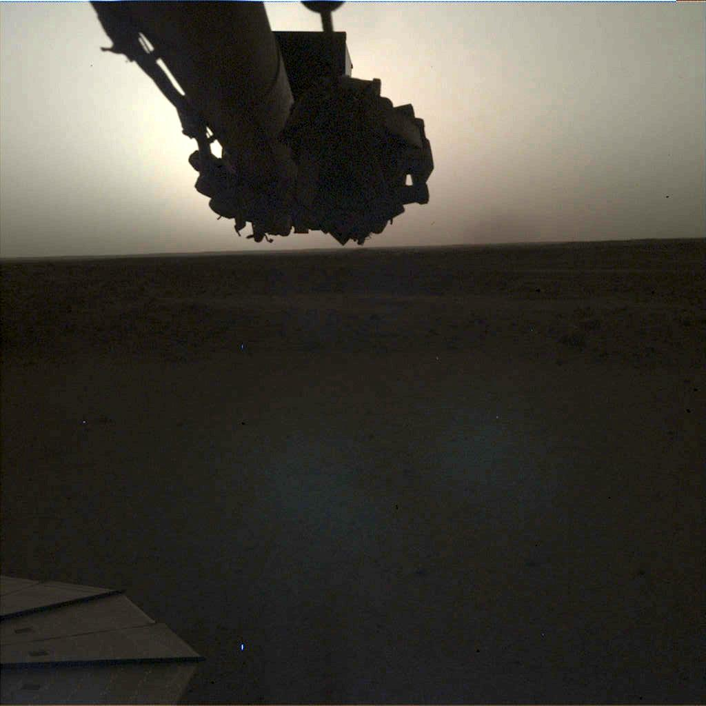 Nasa's Mars lander InSight acquired this image using its Instrument Deployment Camera on Sol 145