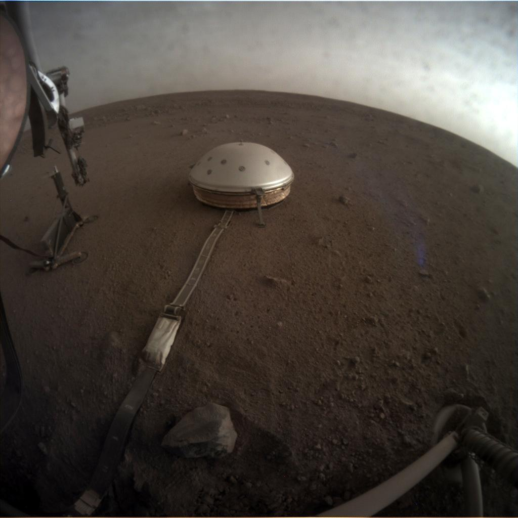Nasa's Mars lander InSight acquired this image using its Instrument Context Camera on Sol 146