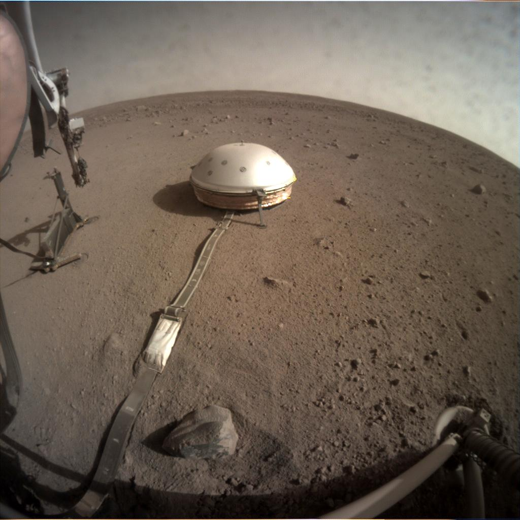 Nasa's Mars lander InSight acquired this image using its Instrument Context Camera on Sol 148