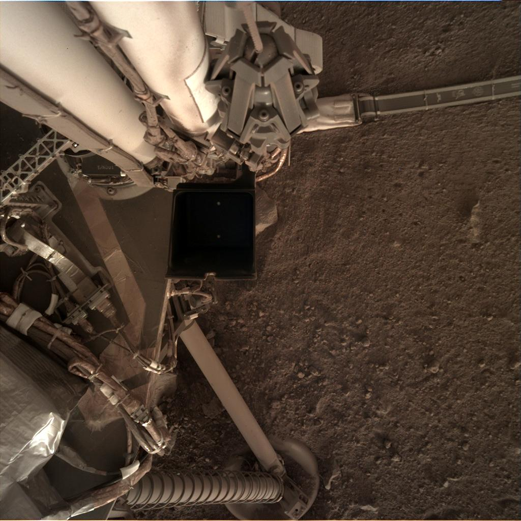 Nasa's Mars lander InSight acquired this image using its Instrument Deployment Camera on Sol 151