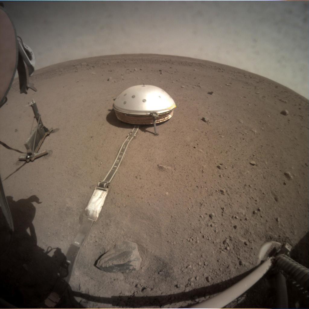 Nasa's Mars lander InSight acquired this image using its Instrument Context Camera on Sol 153