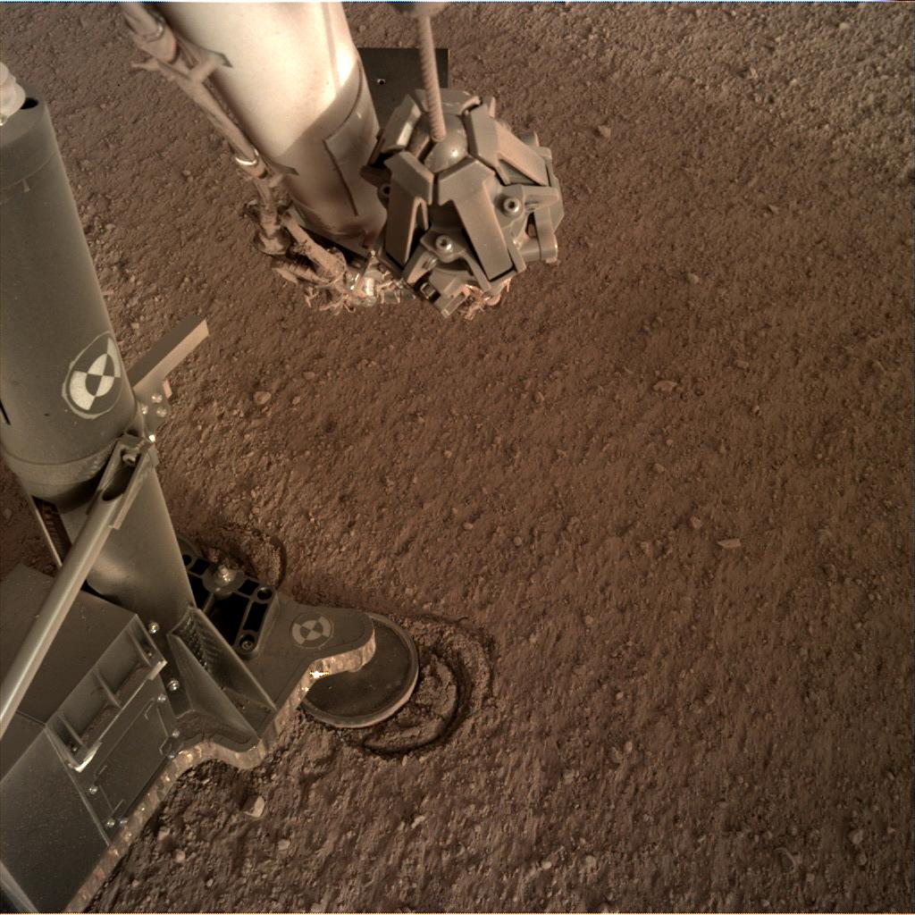 Nasa's Mars lander InSight acquired this image using its Instrument Deployment Camera on Sol 155