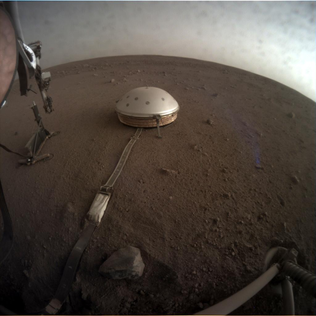 Nasa's Mars lander InSight acquired this image using its Instrument Context Camera on Sol 158