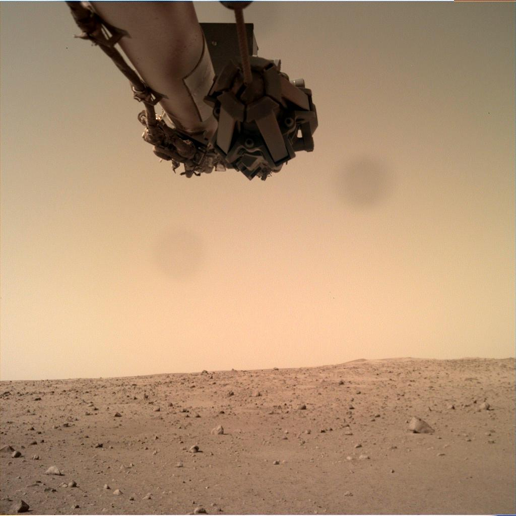 Nasa's Mars lander InSight acquired this image using its Instrument Deployment Camera on Sol 160