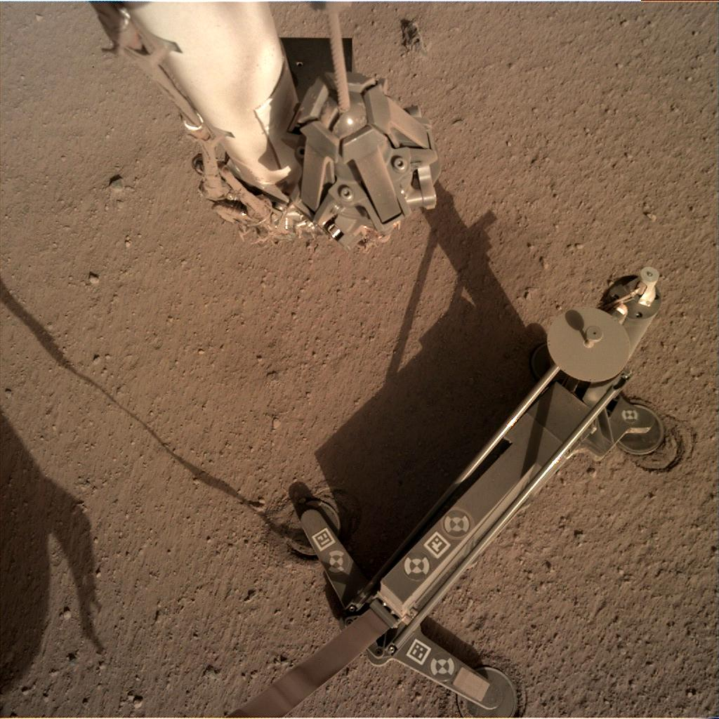 Nasa's Mars lander InSight acquired this image using its Instrument Deployment Camera on Sol 161