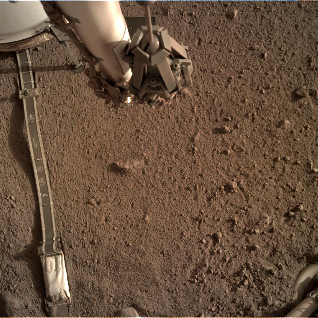Nasa's Mars lander InSight acquired this image using its Instrument Deployment Camera on Sol 164