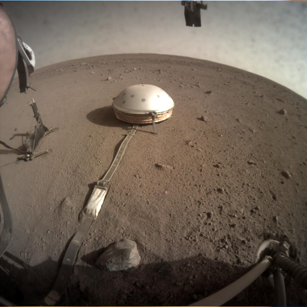 Nasa's Mars lander InSight acquired this image using its Instrument Context Camera on Sol 165