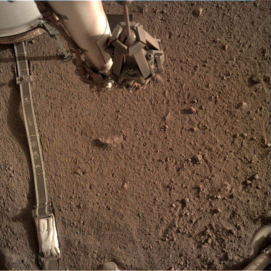Nasa's Mars lander InSight acquired this image using its Instrument Deployment Camera on Sol 166