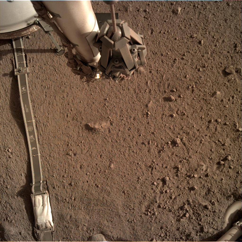 Nasa's Mars lander InSight acquired this image using its Instrument Deployment Camera on Sol 167