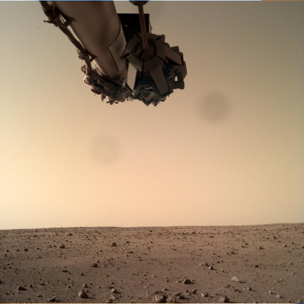 Nasa's Mars lander InSight acquired this image using its Instrument Deployment Camera on Sol 168
