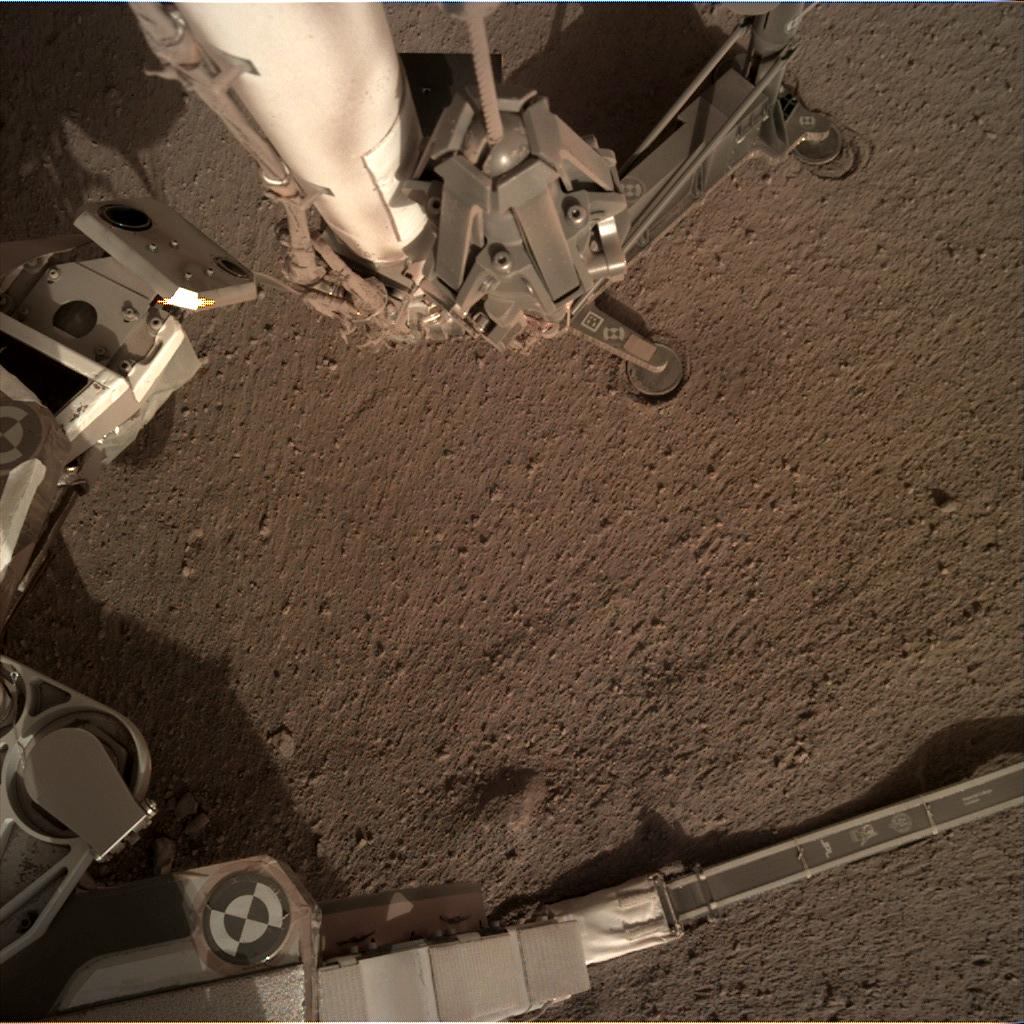 Nasa's Mars lander InSight acquired this image using its Instrument Deployment Camera on Sol 171