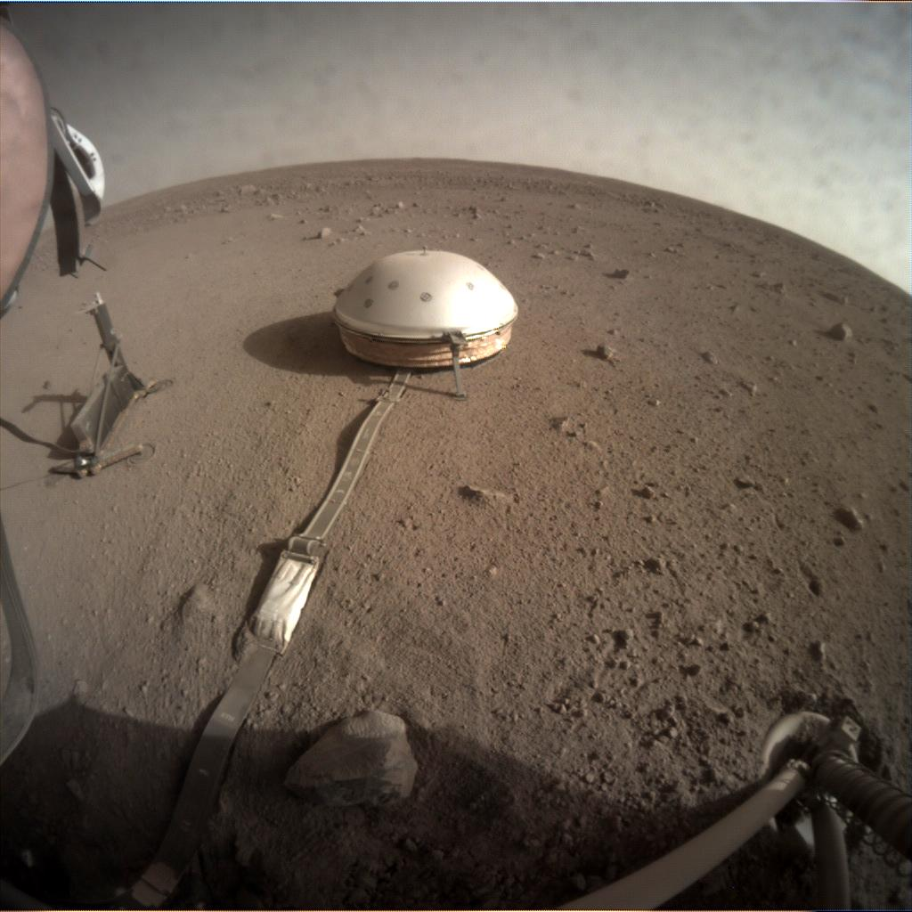 Nasa's Mars lander InSight acquired this image using its Instrument Context Camera on Sol 173