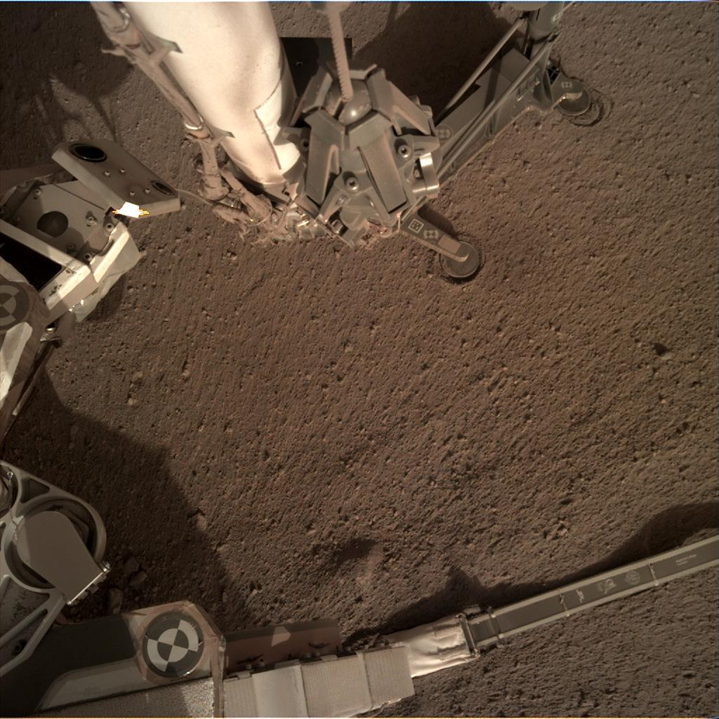 Nasa's Mars lander InSight acquired this image using its Instrument Deployment Camera on Sol 174