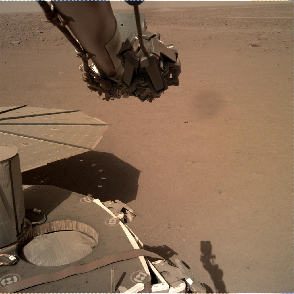 Nasa's Mars lander InSight acquired this image using its Instrument Deployment Camera on Sol 175