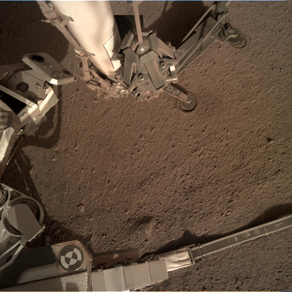 Nasa's Mars lander InSight acquired this image using its Instrument Deployment Camera on Sol 176