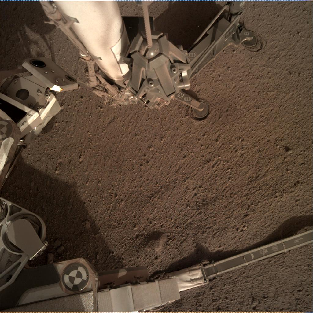 Nasa's Mars lander InSight acquired this image using its Instrument Deployment Camera on Sol 178