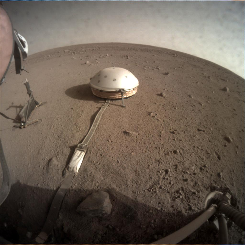 Nasa's Mars lander InSight acquired this image using its Instrument Context Camera on Sol 179