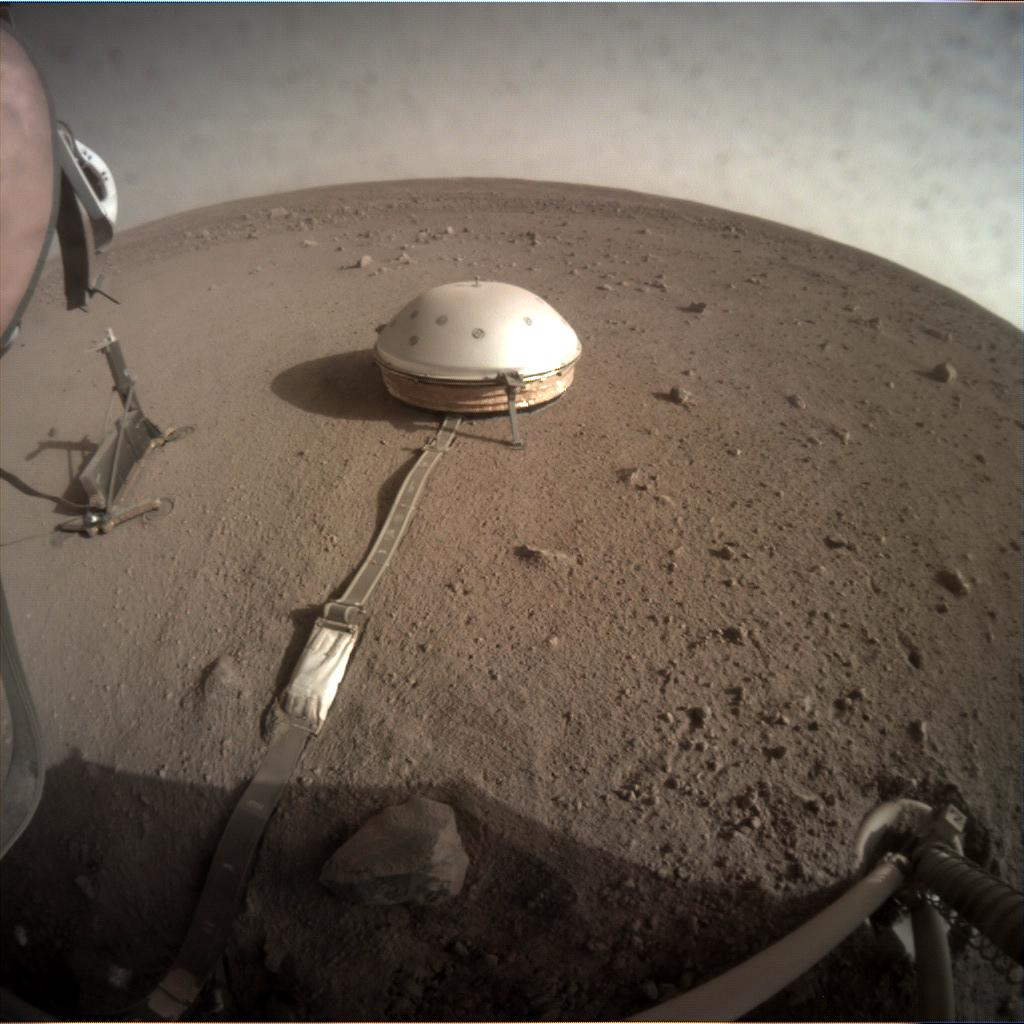 Nasa's Mars lander InSight acquired this image using its Instrument Context Camera on Sol 180