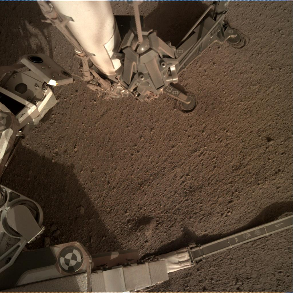 Nasa's Mars lander InSight acquired this image using its Instrument Deployment Camera on Sol 181