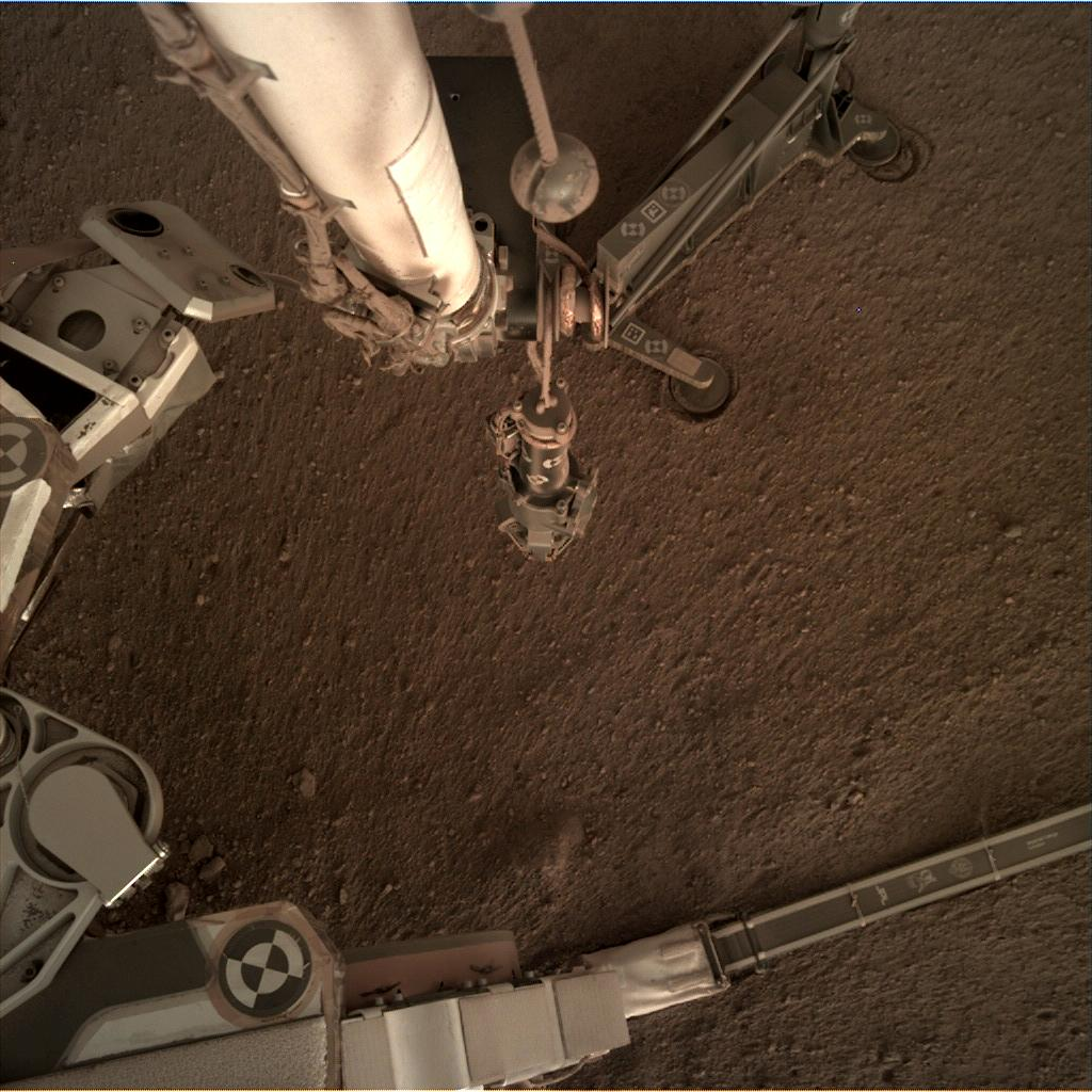 Nasa's Mars lander InSight acquired this image using its Instrument Deployment Camera on Sol 182