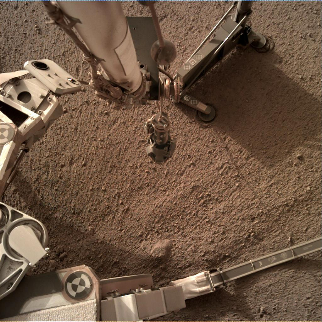 Nasa's Mars lander InSight acquired this image using its Instrument Deployment Camera on Sol 183