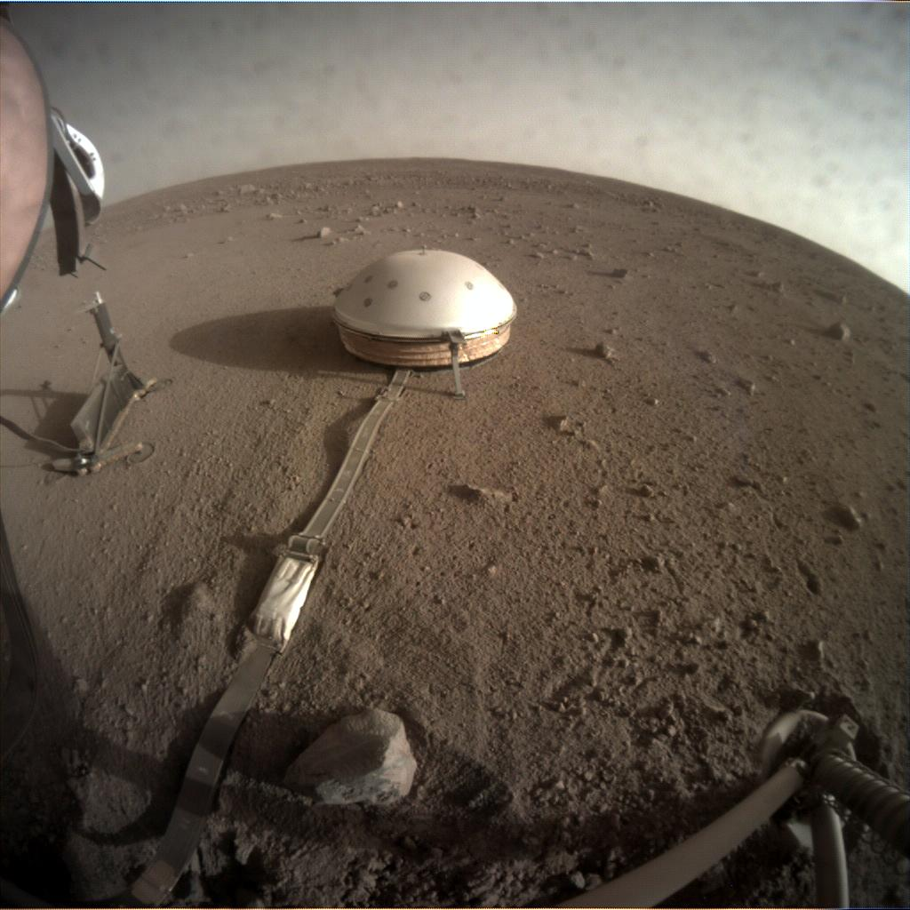 Nasa's Mars lander InSight acquired this image using its Instrument Context Camera on Sol 184