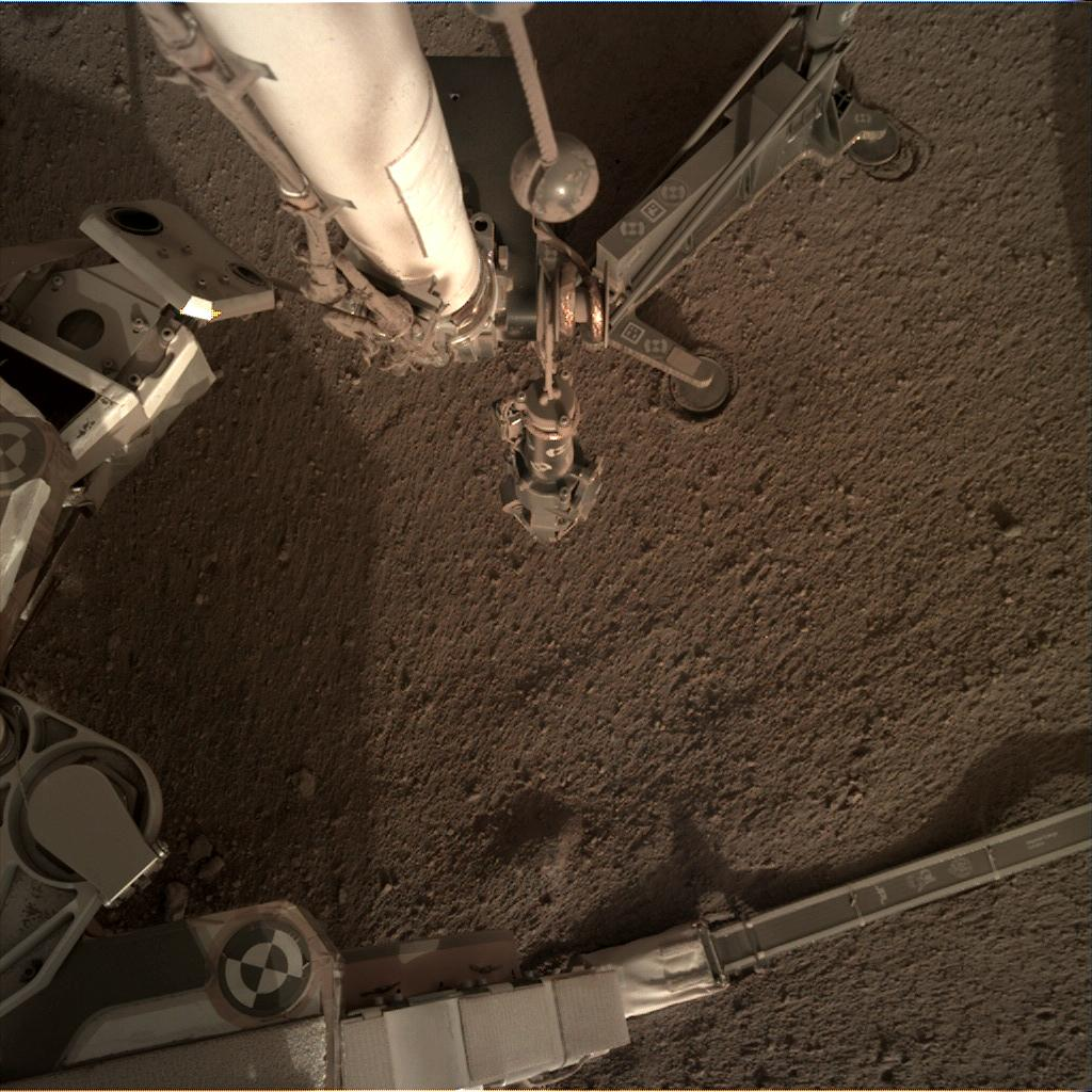 Nasa's Mars lander InSight acquired this image using its Instrument Deployment Camera on Sol 184