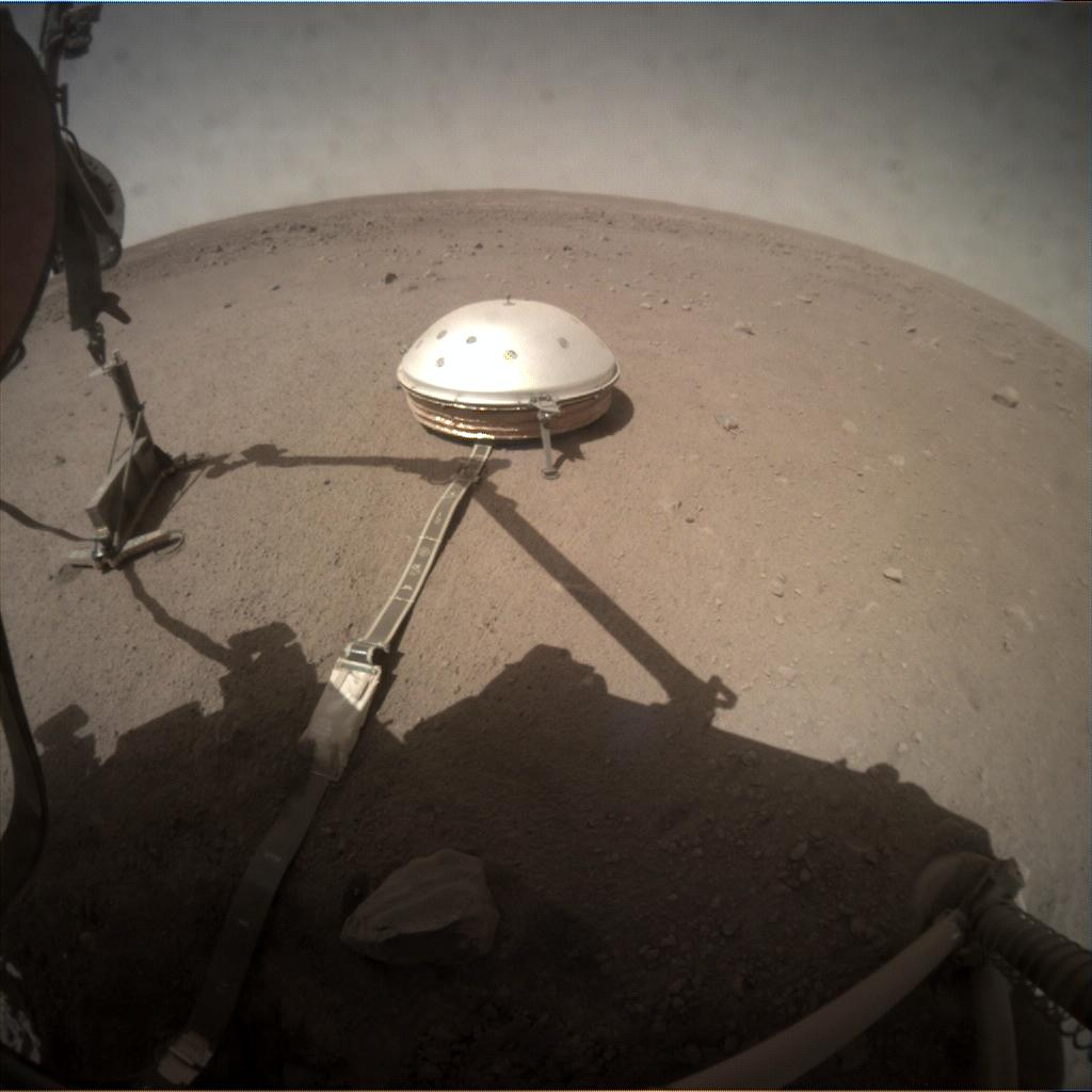 Nasa's Mars lander InSight acquired this image using its Instrument Context Camera on Sol 198