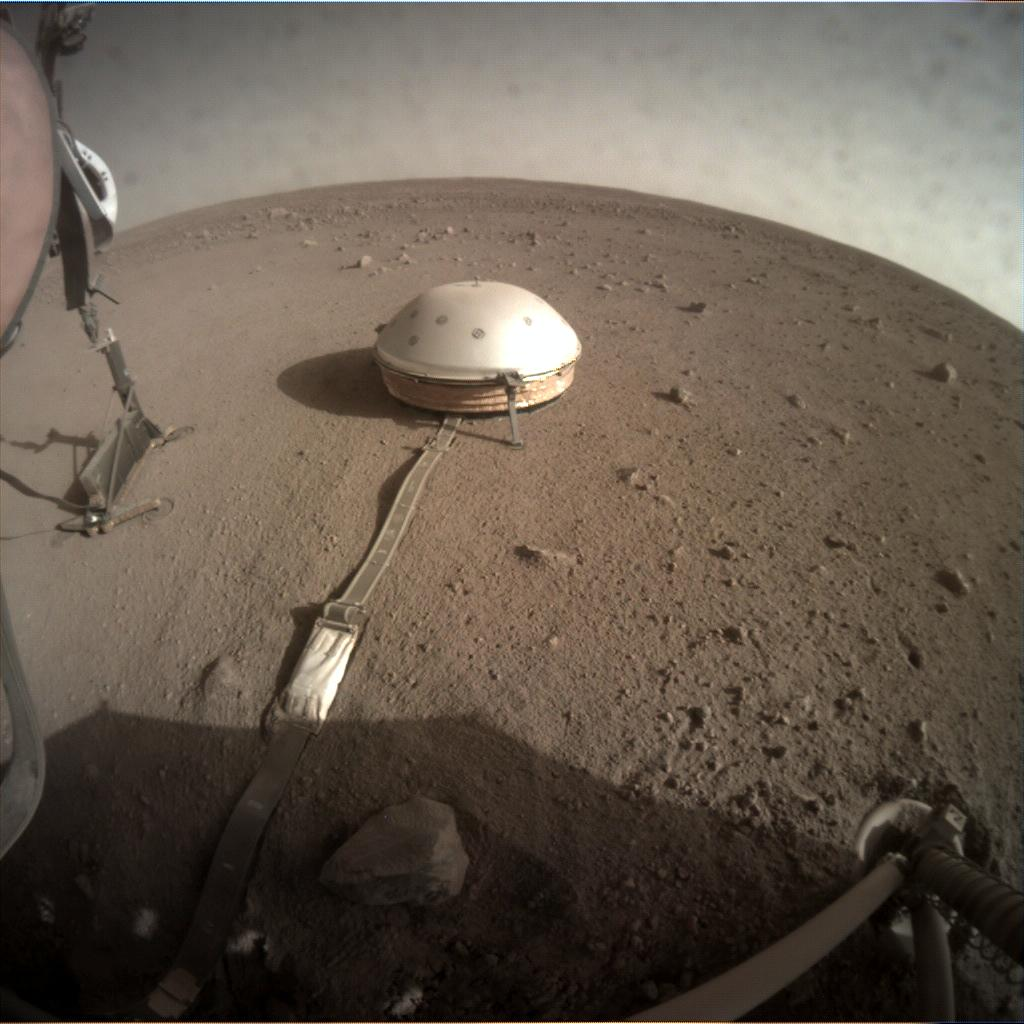 Nasa's Mars lander InSight acquired this image using its Instrument Context Camera on Sol 200
