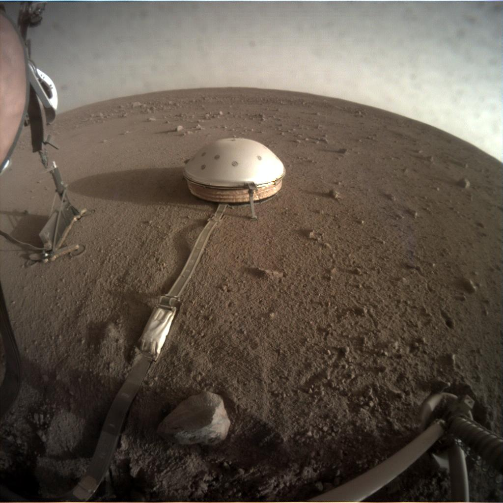 Nasa's Mars lander InSight acquired this image using its Instrument Context Camera on Sol 201
