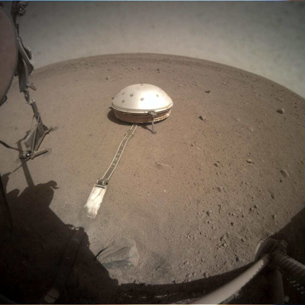 Nasa's Mars lander InSight acquired this image using its Instrument Context Camera on Sol 203