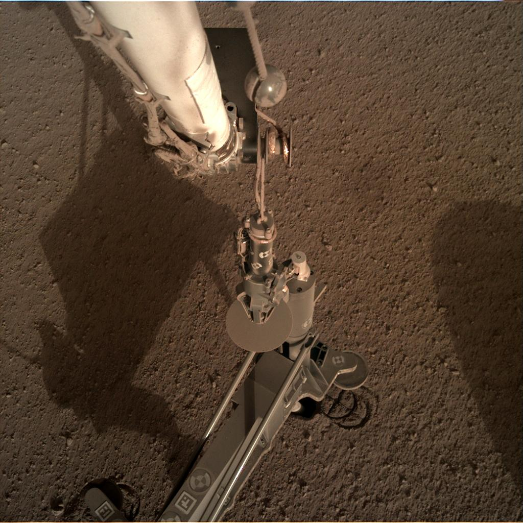Nasa's Mars lander InSight acquired this image using its Instrument Deployment Camera on Sol 203