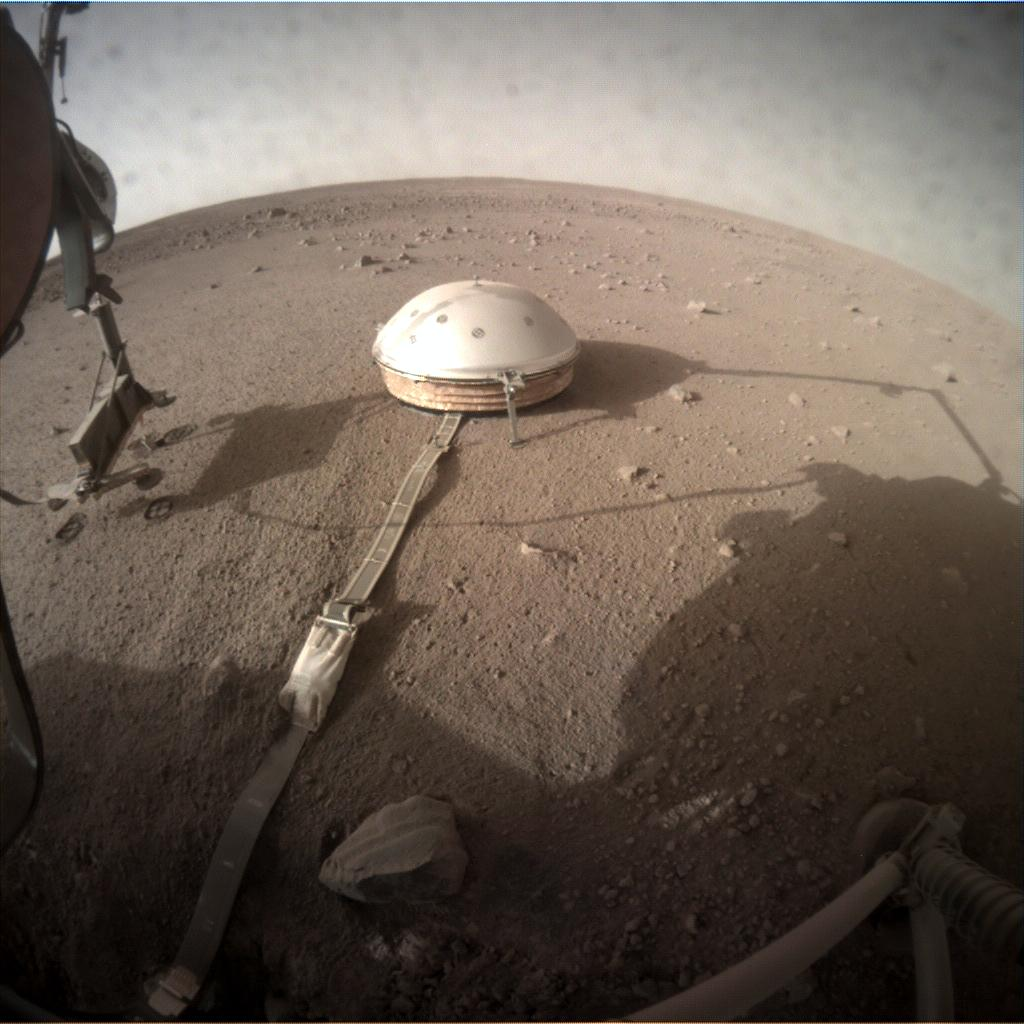 Nasa's Mars lander InSight acquired this image using its Instrument Context Camera on Sol 204