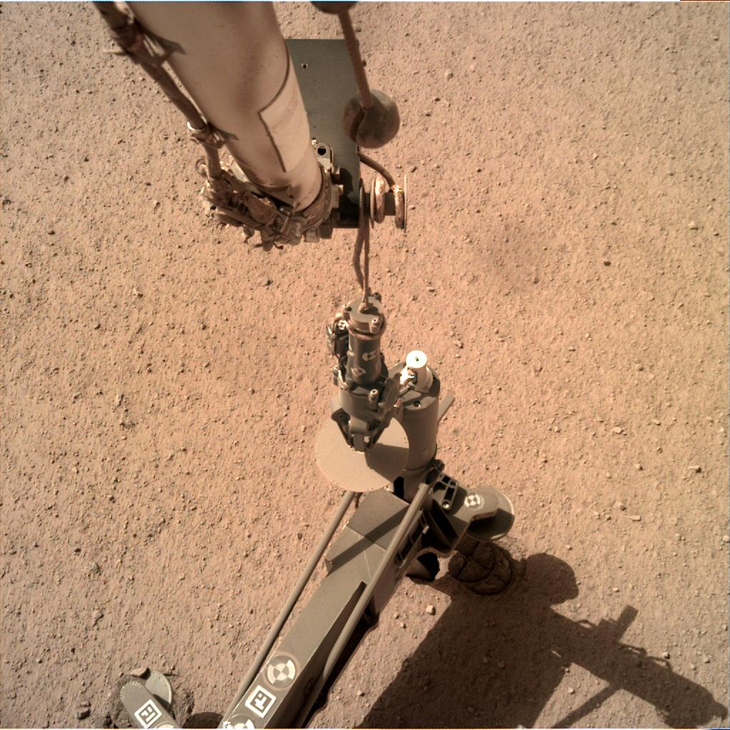 Nasa's Mars lander InSight acquired this image using its Instrument Deployment Camera on Sol 204