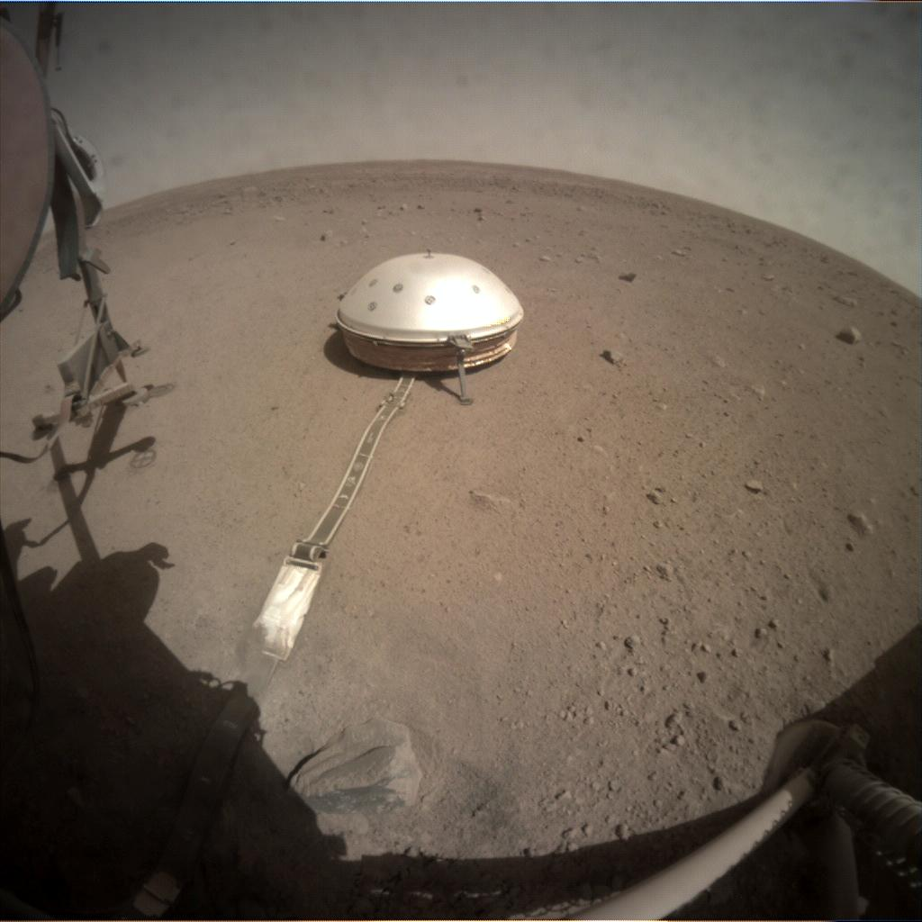 Nasa's Mars lander InSight acquired this image using its Instrument Context Camera on Sol 206