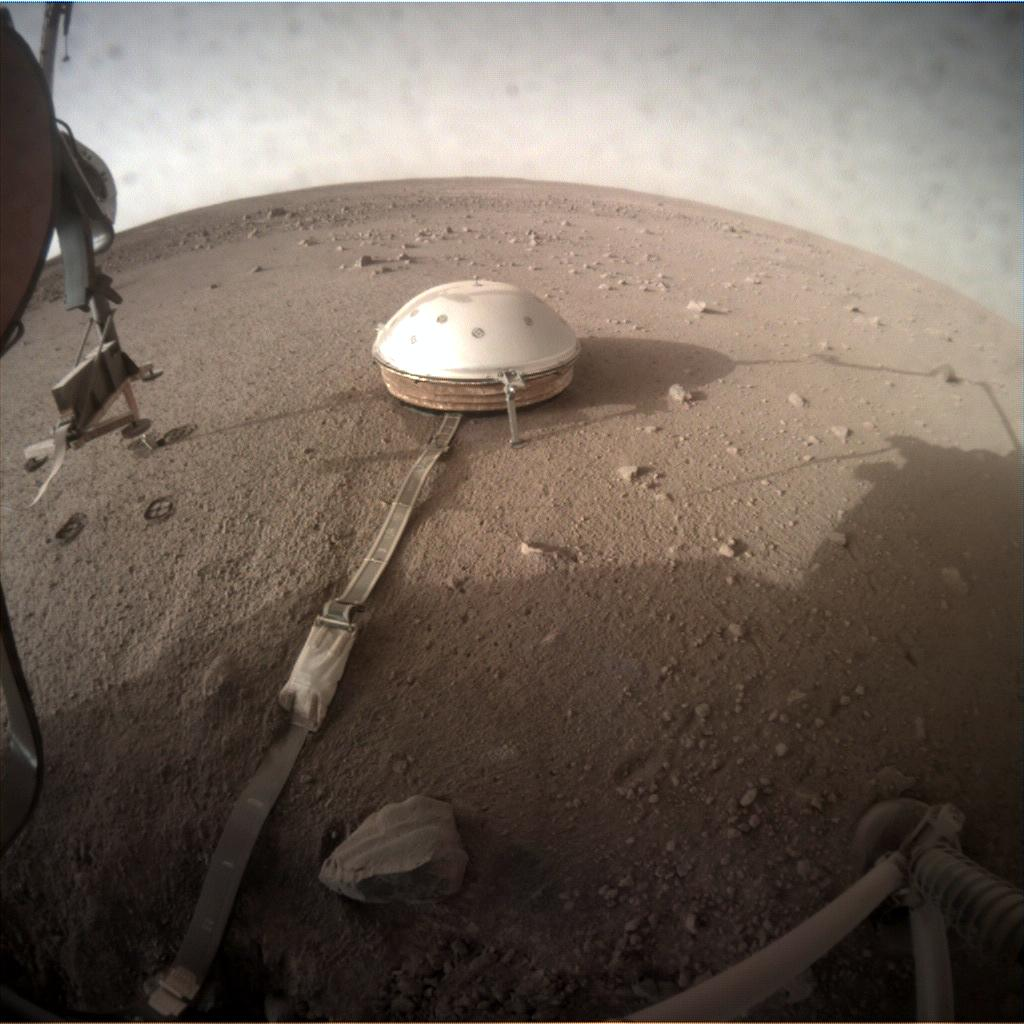Nasa's Mars lander InSight acquired this image using its Instrument Context Camera on Sol 207