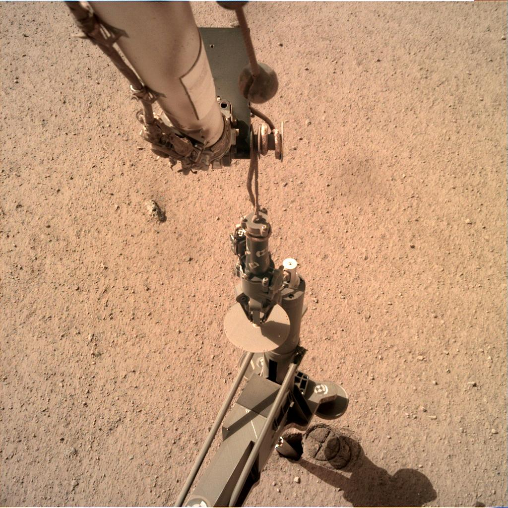 Nasa's Mars lander InSight acquired this image using its Instrument Deployment Camera on Sol 207