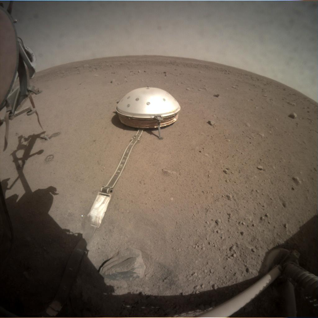 Nasa's Mars lander InSight acquired this image using its Instrument Context Camera on Sol 209