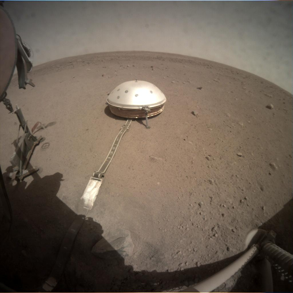 Nasa's Mars lander InSight acquired this image using its Instrument Context Camera on Sol 212