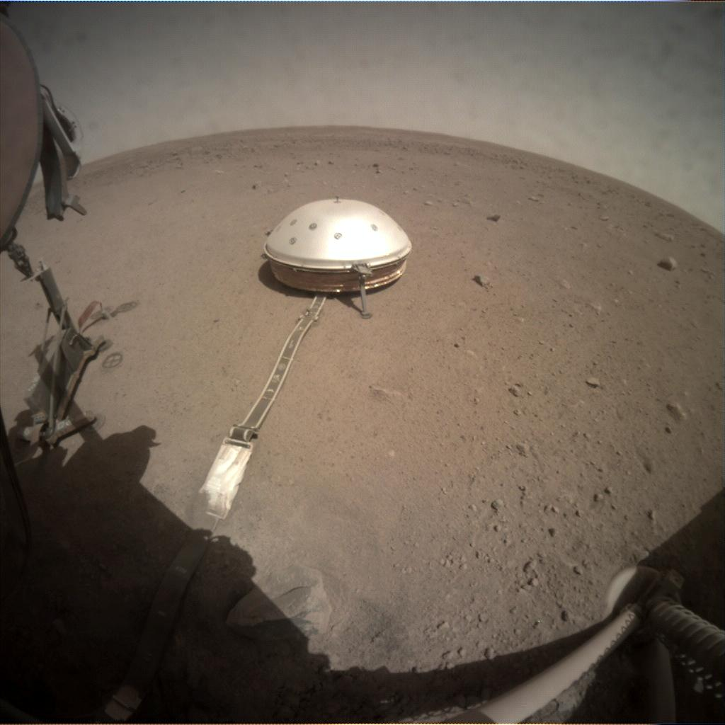 Nasa's Mars lander InSight acquired this image using its Instrument Context Camera on Sol 214