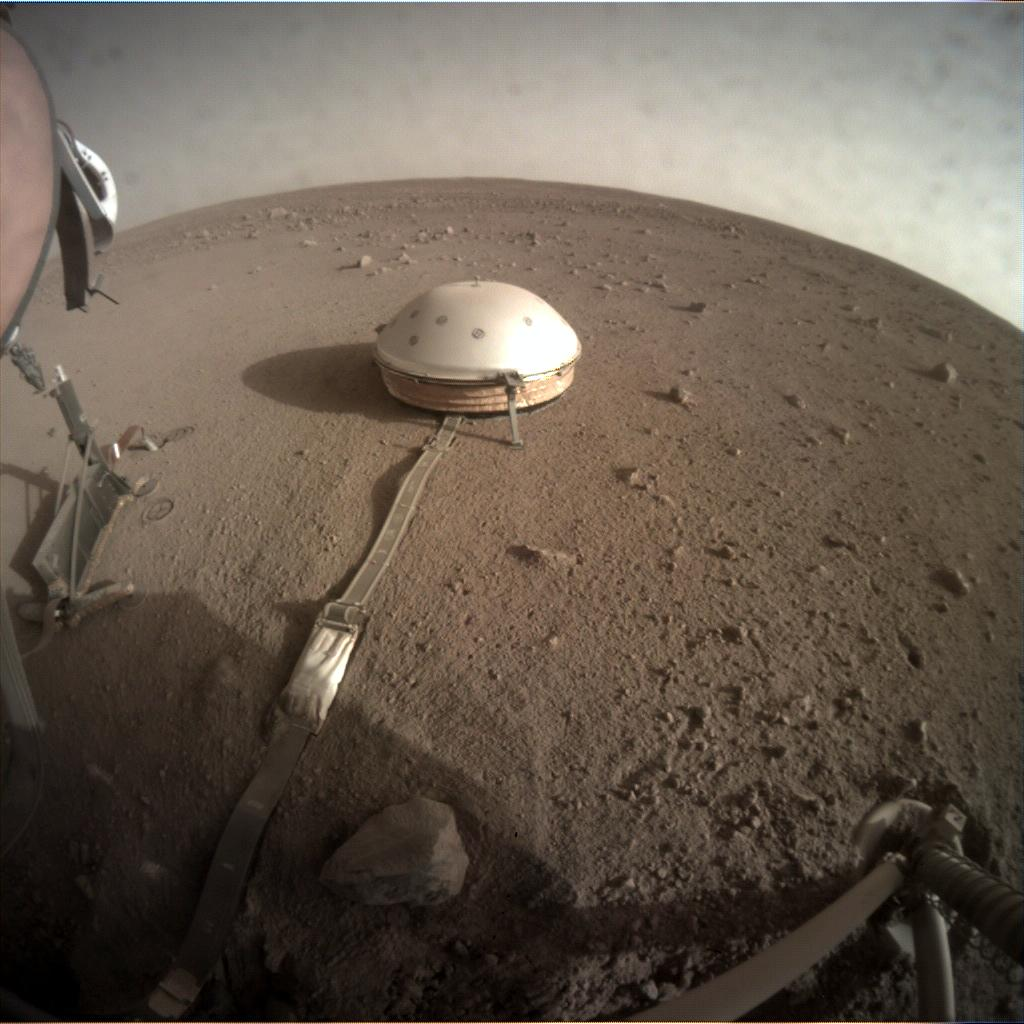 Nasa's Mars lander InSight acquired this image using its Instrument Context Camera on Sol 216