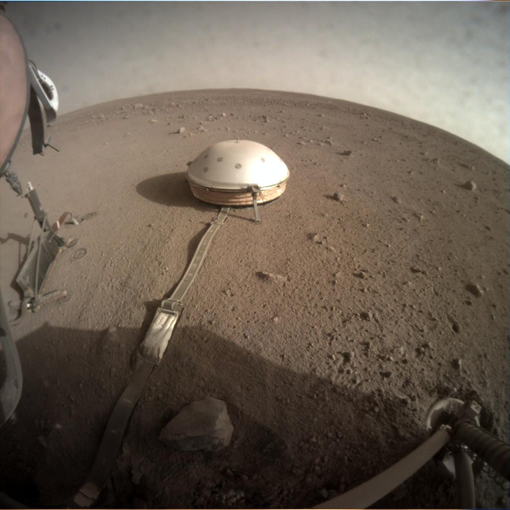 Nasa's Mars lander InSight acquired this image using its Instrument Context Camera on Sol 217
