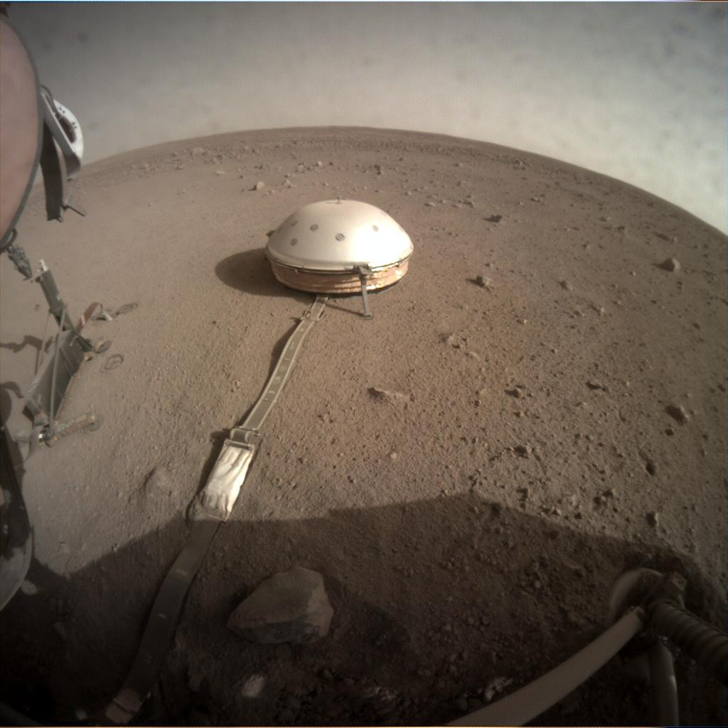 Nasa's Mars lander InSight acquired this image using its Instrument Context Camera on Sol 220