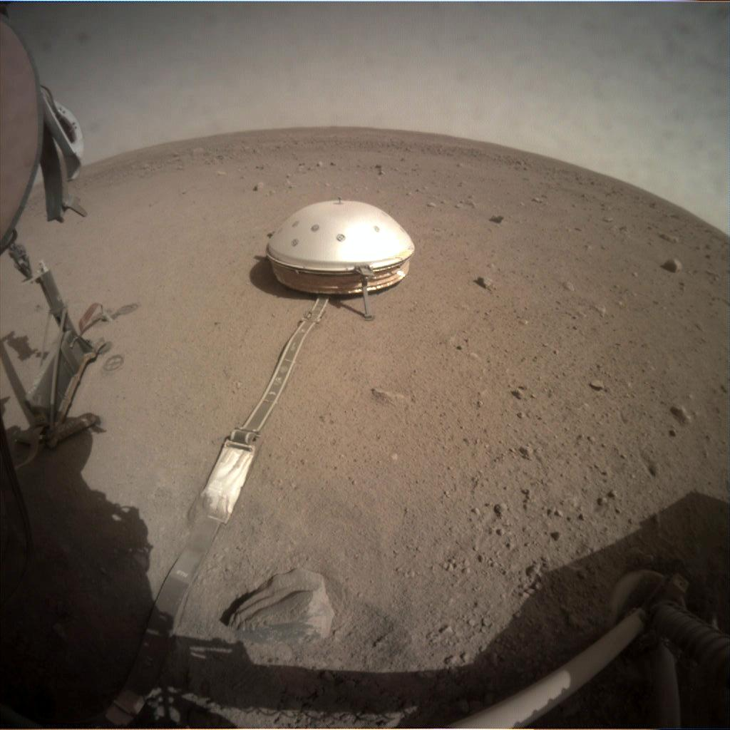 Nasa's Mars lander InSight acquired this image using its Instrument Context Camera on Sol 223