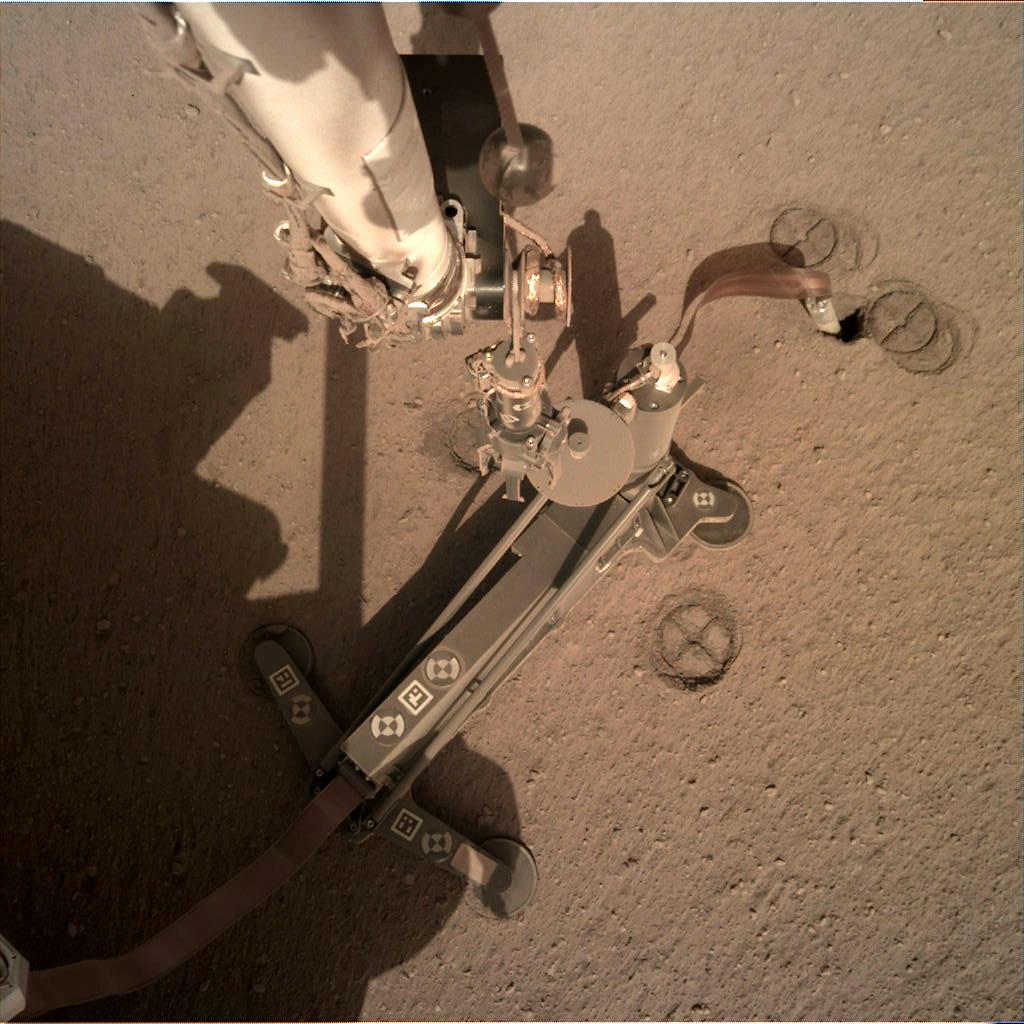 Nasa's Mars lander InSight acquired this image using its Instrument Deployment Camera on Sol 223
