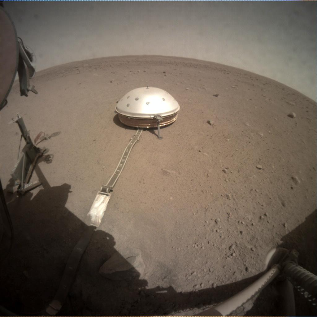 Nasa's Mars lander InSight acquired this image using its Instrument Context Camera on Sol 228