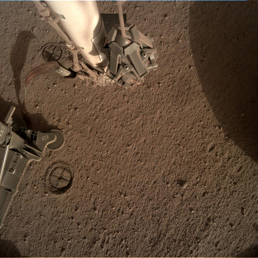 Nasa's Mars lander InSight acquired this image using its Instrument Deployment Camera on Sol 230