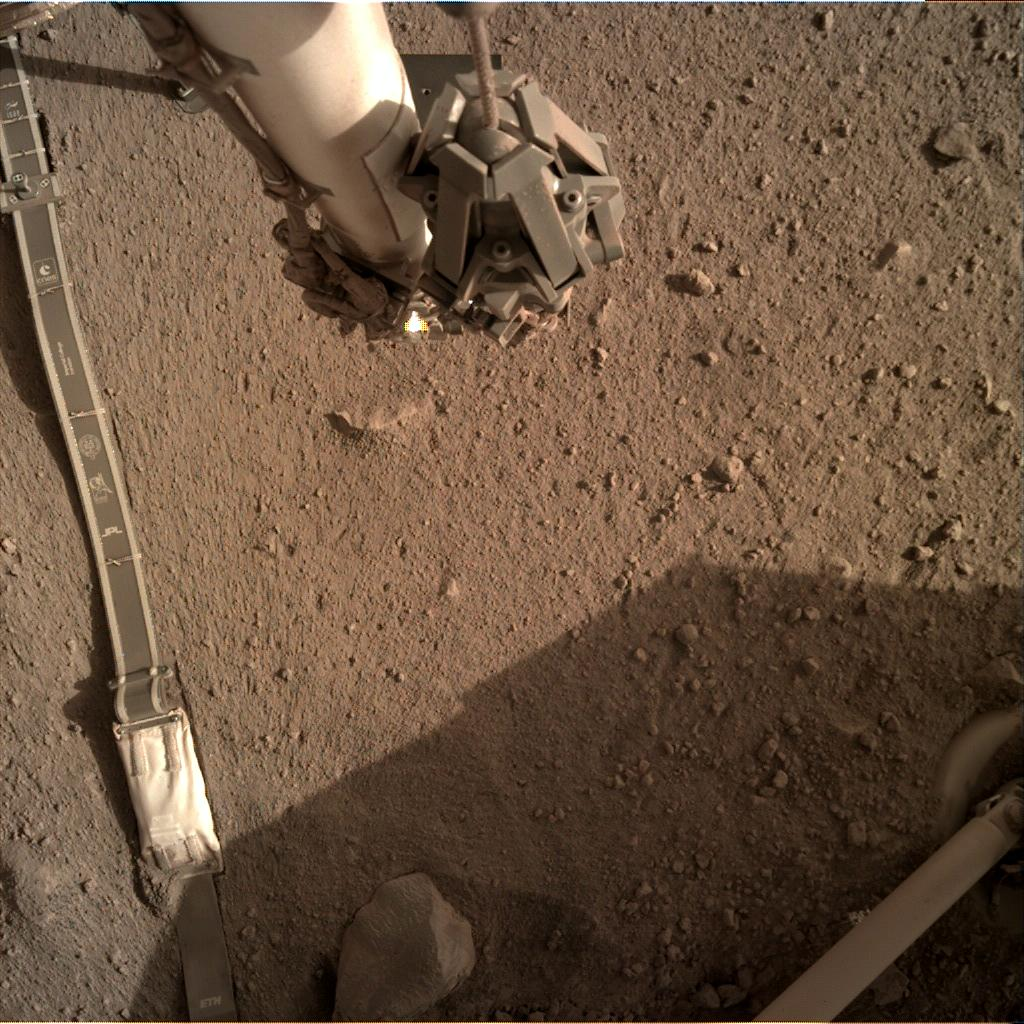 Nasa's Mars lander InSight acquired this image using its Instrument Deployment Camera on Sol 234