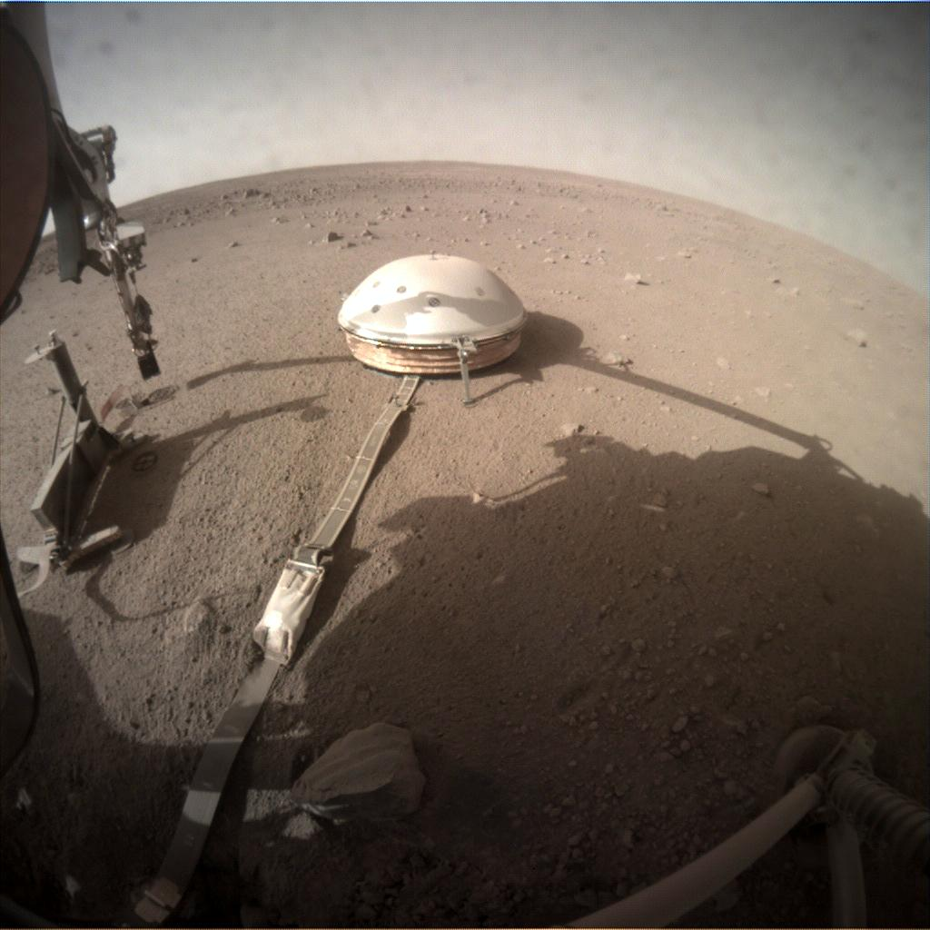 Nasa's Mars lander InSight acquired this image using its Instrument Context Camera on Sol 235